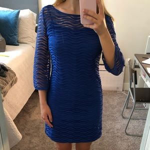 Lilly Pulitzer Blue Waved Dress
